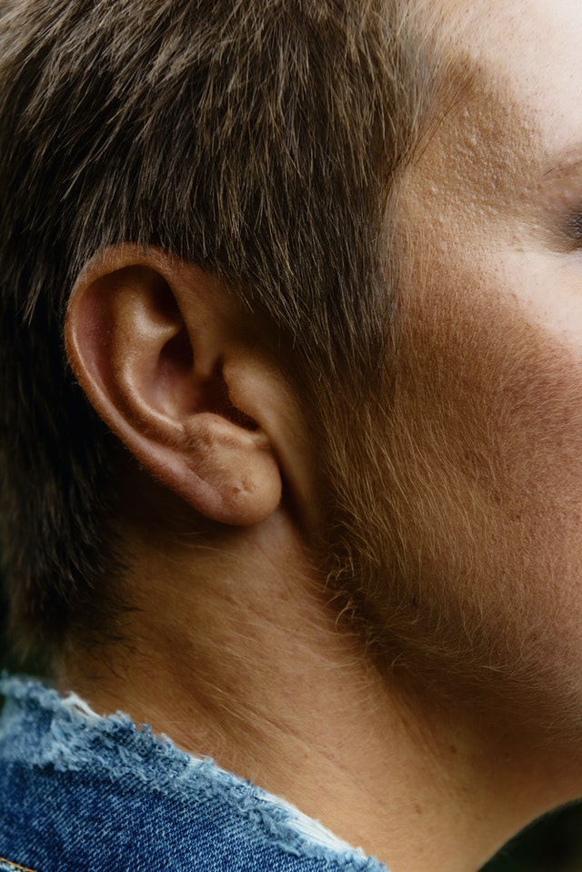 close up on an ear